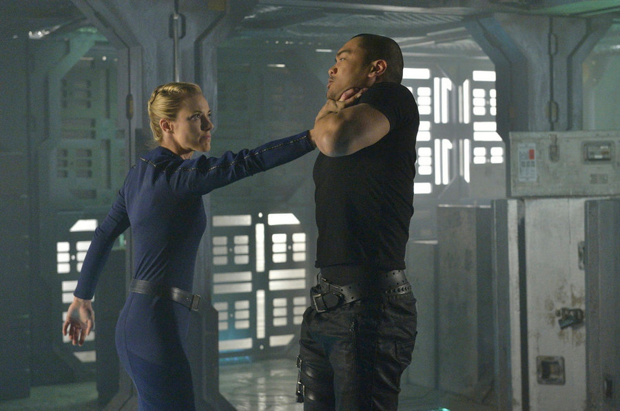 Zoie Palmer as The Android.