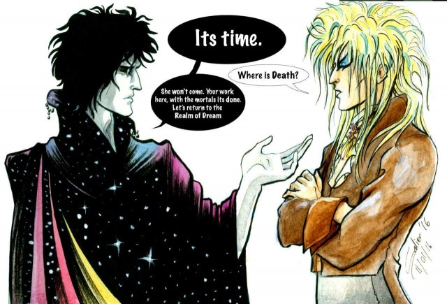 sandman and bowie