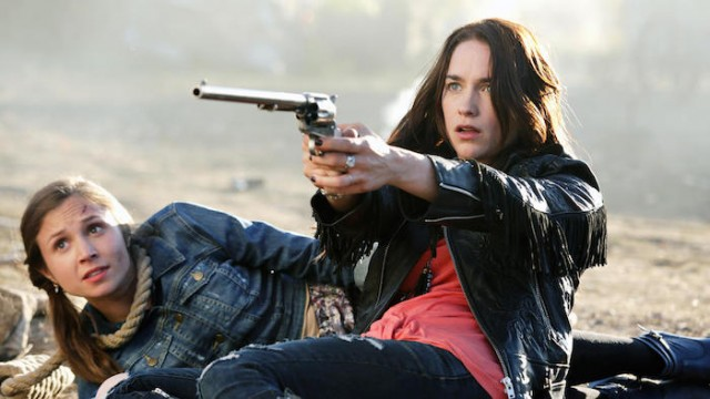 The Earp Girls: Wavery (Dominique Provost-Chalkley) and Wynonna (Melanie Scrofano)