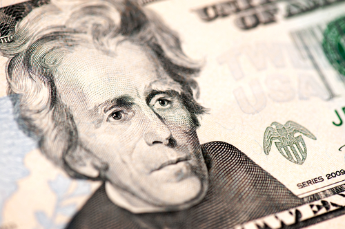 Shutterstock image of Andrew Jackson on the $20 bill