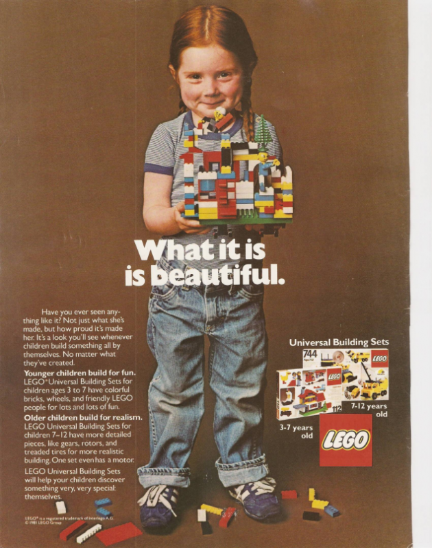 Lego magazine advert from the 1970s