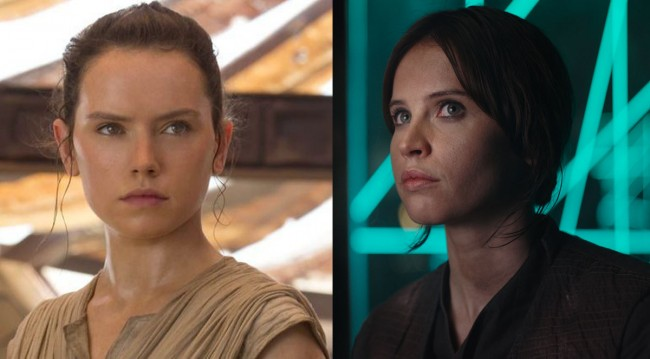 Rey and Jyn Erso