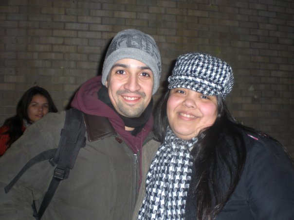 Me and Lin-Manuel Miranda after a performance of In the Heights.