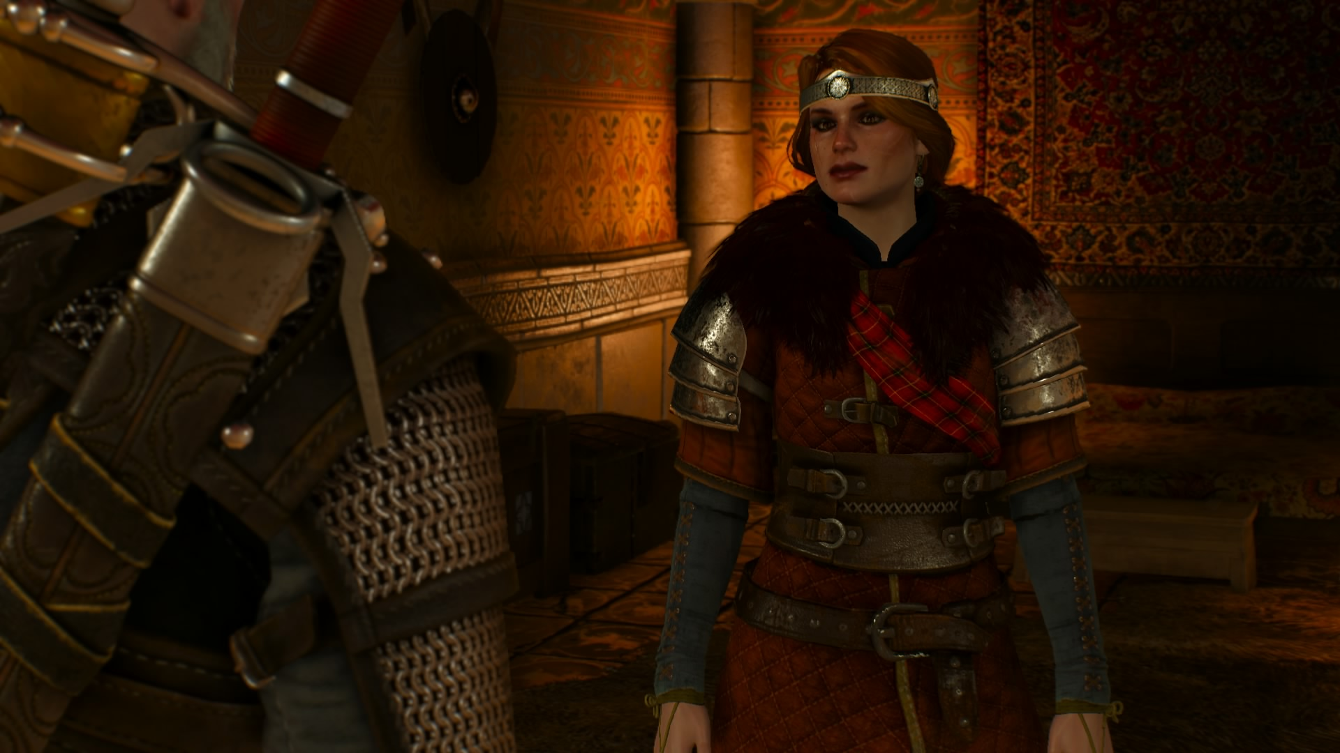 Cerys is a good example of the Skellige look, and has one of the stronger costumes in the game.