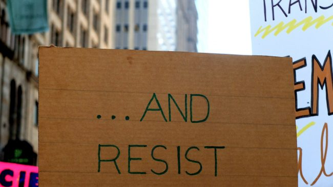 protest sign resist
