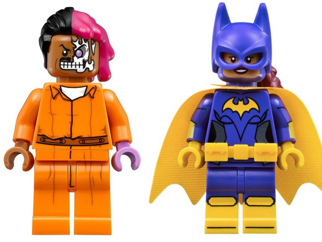 two-face and batgirl