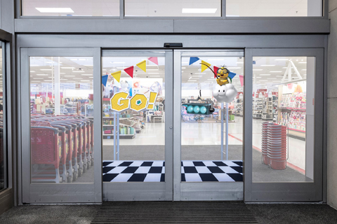 Starting line for target's mario promotion
