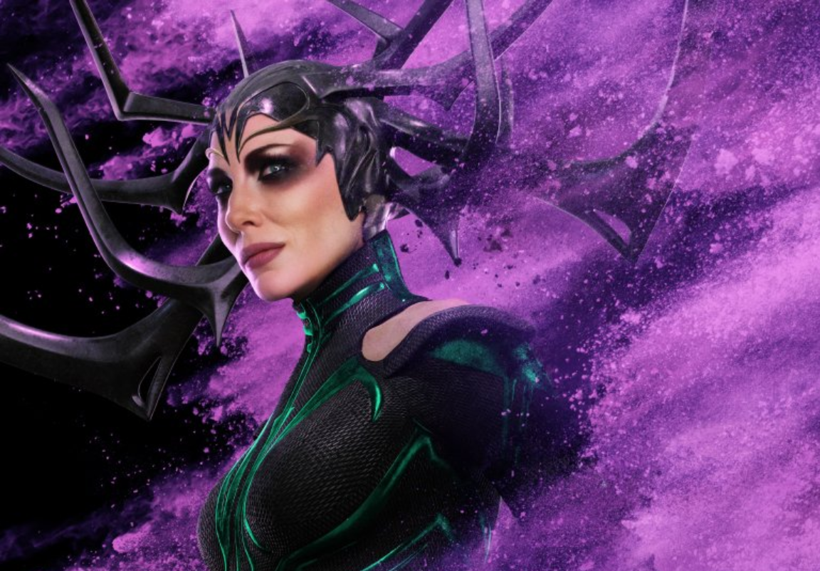 Cropped version of Hela's character poster for Thor: Ragnarok; via Marvel and Walt Disney Studios