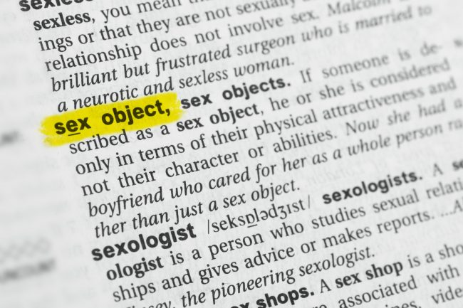 image: Lobro/Shutterstock definition of sex object