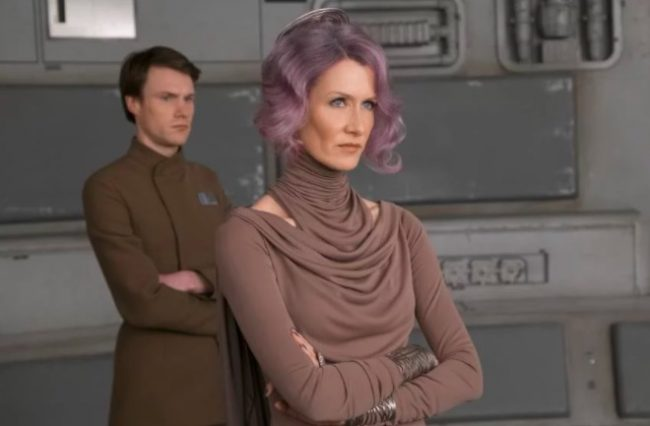 Admiral Holdo in Star Wars: The Last Jedi
