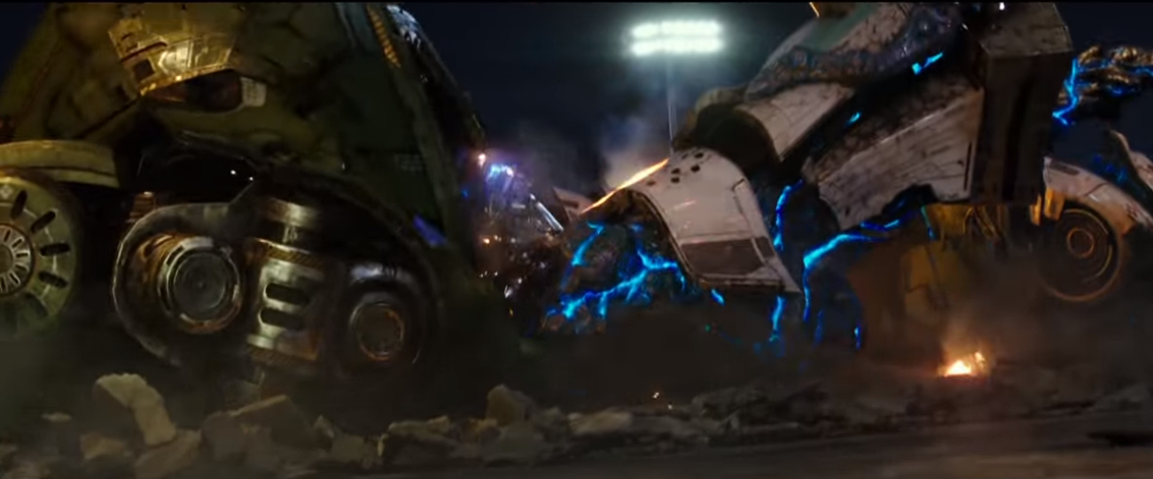 "Screengrab of the new trailer for ""Pacific Rim Uprising"""