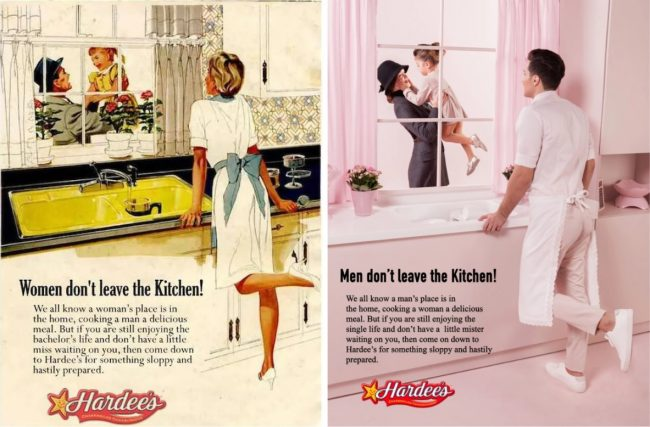 """image: Eli Rezkallah One of several images from Rezkallah's photo series """"In a Parallel Universe"""" showcasing sexism in advertising"""
