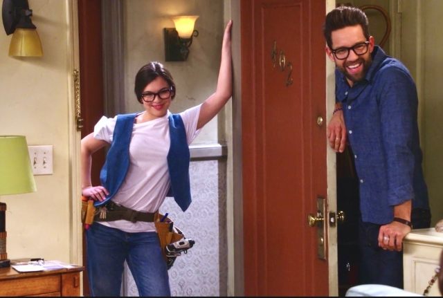 "image: Netflix Isabella Gomez as Elena and Todd Grinnell as Schneider on ""One Day at a Time"""