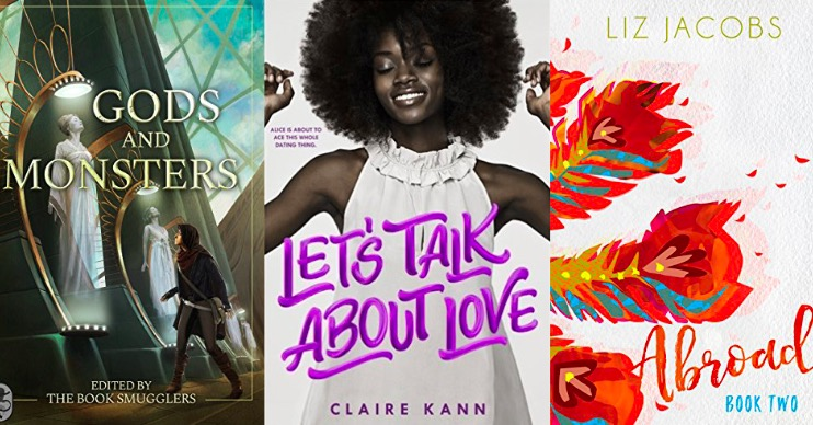 Gods and Monsters, Let's Talk About Love, & Abroad book covers