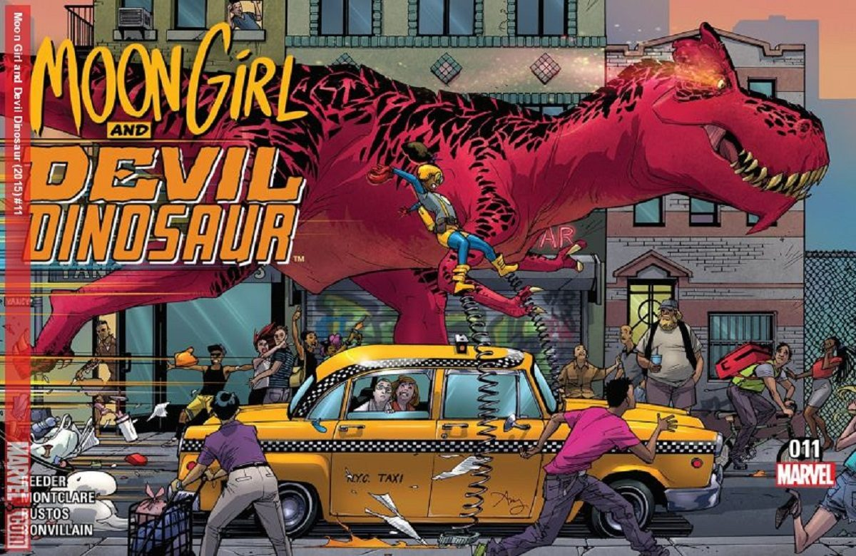 "Cover for Marvel Comics' ""Moon Girl and Devil Dinosaur"" #11, drawn by Amy Reeder"