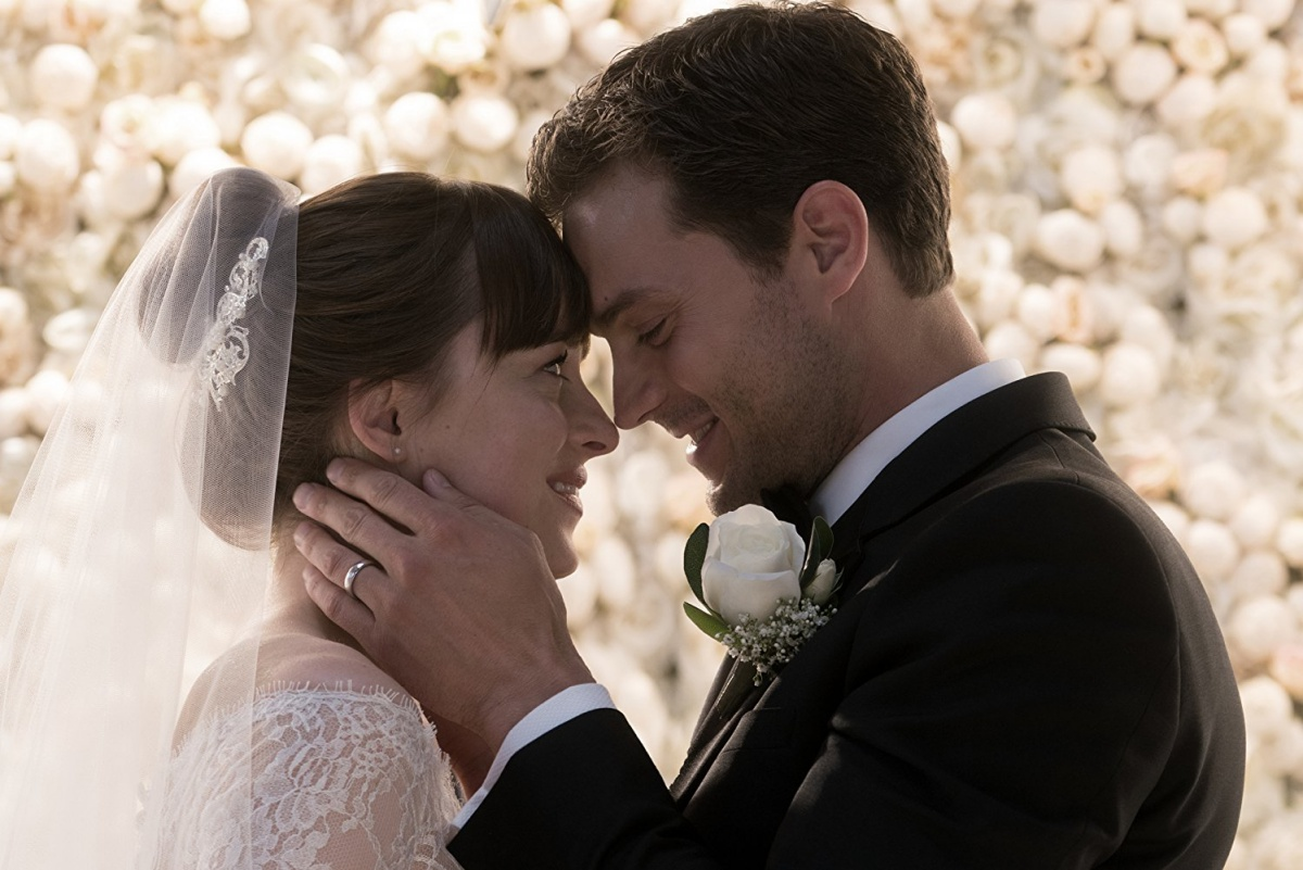 fifty shades freed Ana and Christian Grey wedding