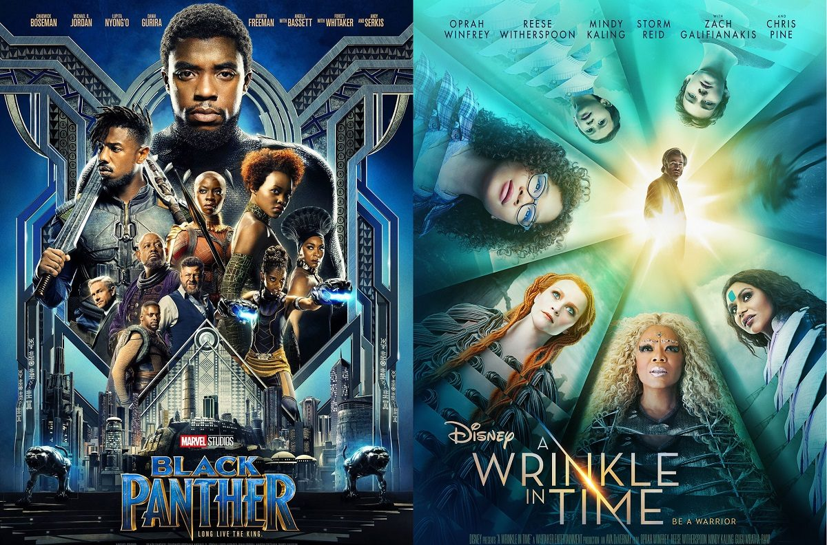"""Posters for """"Black Panther"""" and """"A Wrinkle in Time"""""""