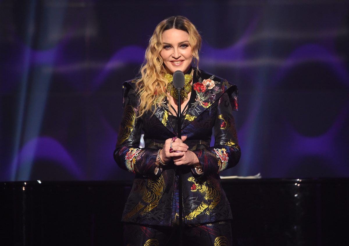 NEW YORK, NY - DECEMBER 09: Madonna speaks on stage at the Billboard Women in Music 2016 event on December 9, 2016 in New York City.