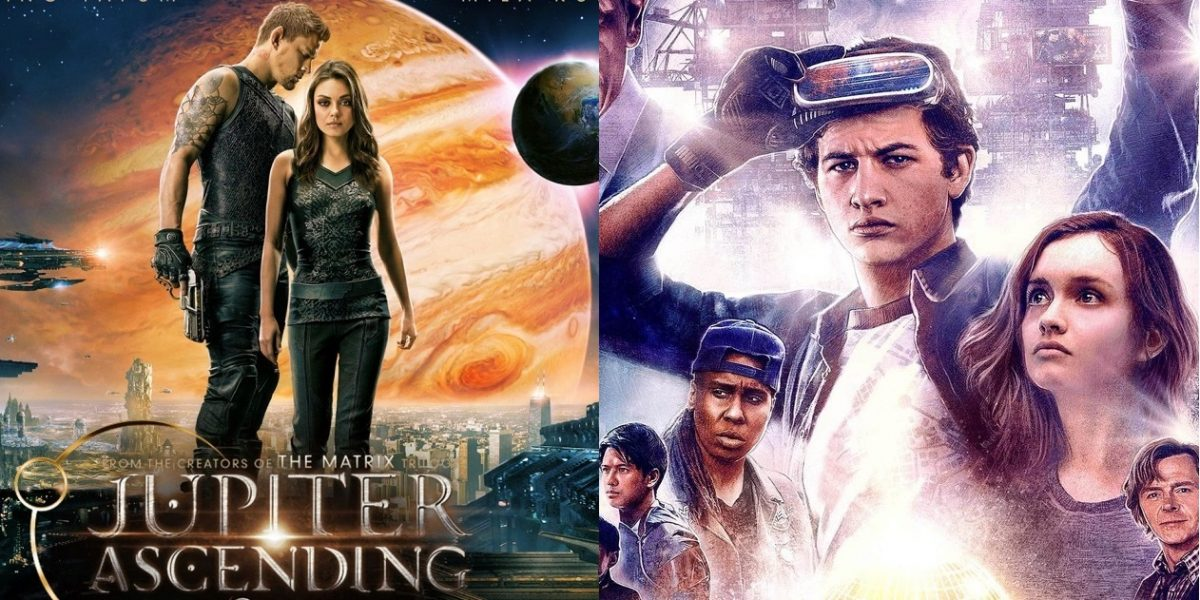 "Movie posters for ""Jupiter Ascending"" and ""Ready Player One"""