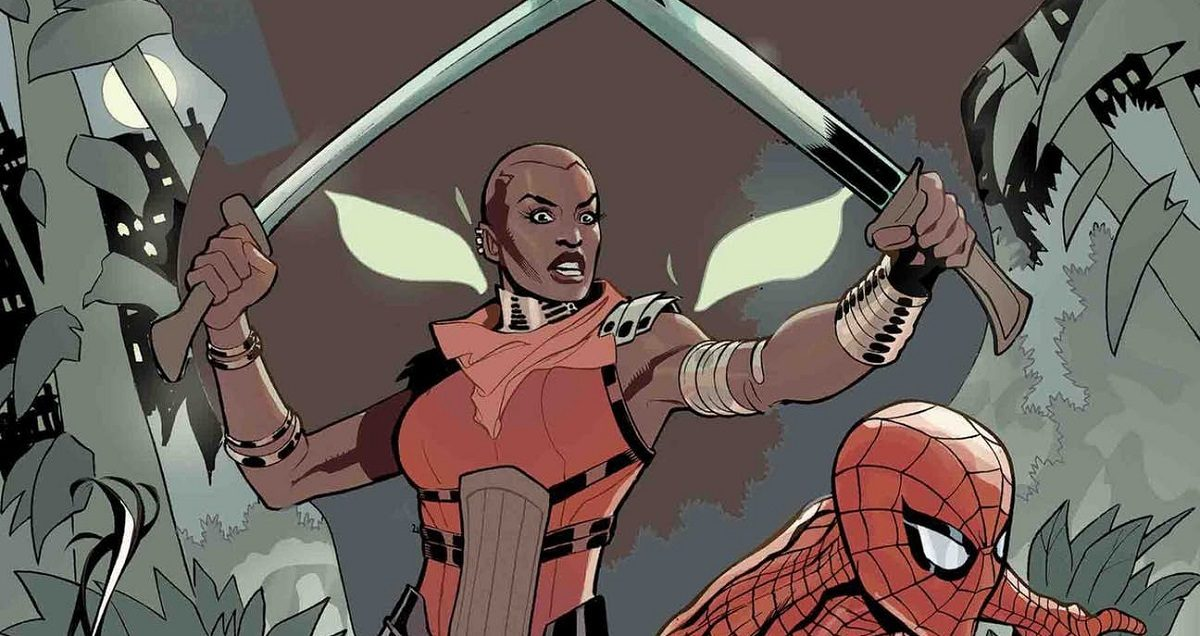 """Terry Dodson's cover image of the Dora Milaje for """"Wakanda Forever: The Amazing Spider-Man"""" (Credit: Marvel Comics)"""