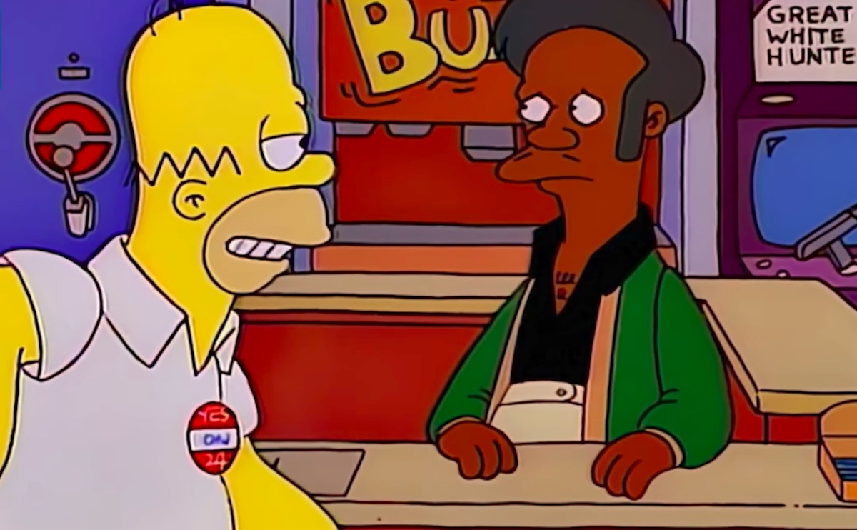 Homer and Apu on The Simpsons