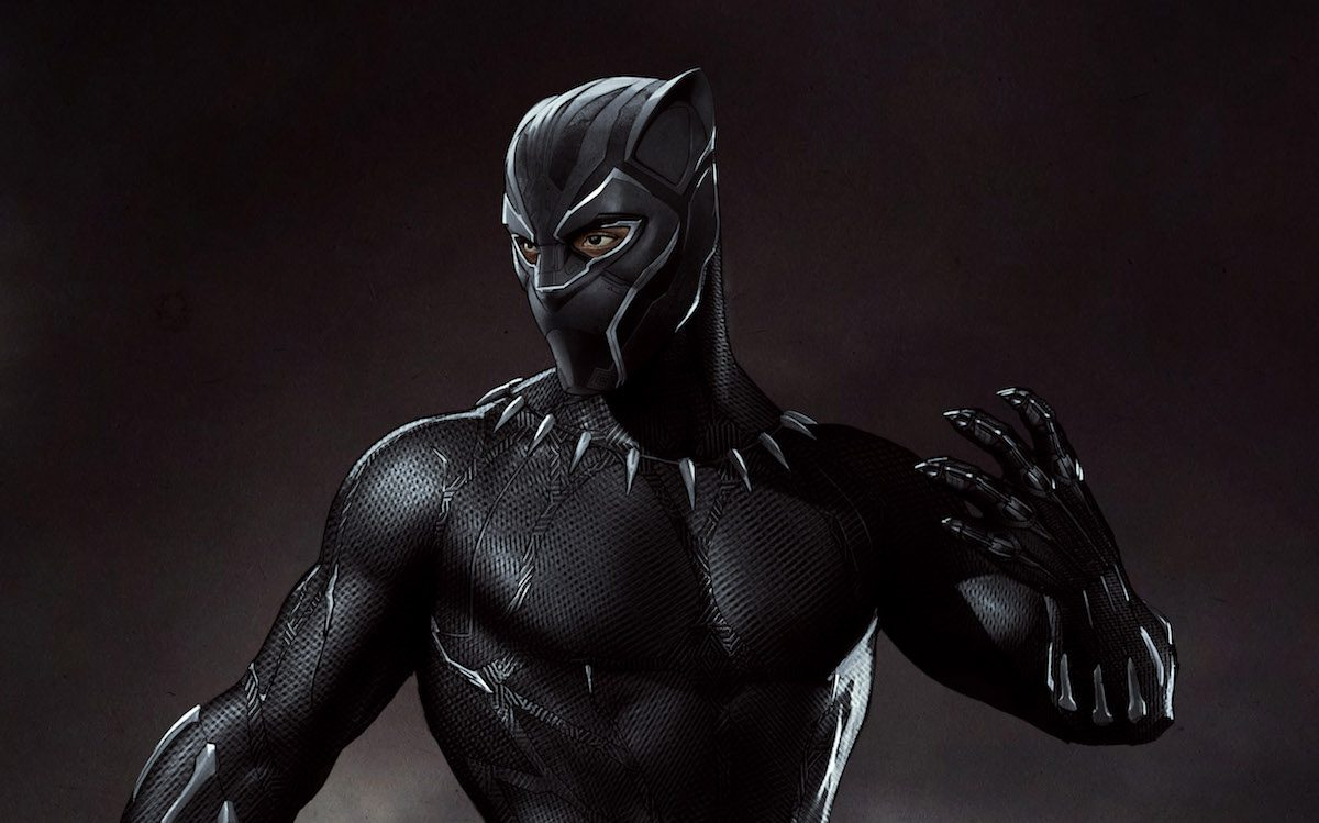 Marvel Studios' BLACK PANTHER..Black Panther Conceptual Character and Costume Design Sketch..Costume Design and Art: ..©Marvel Studios 2018