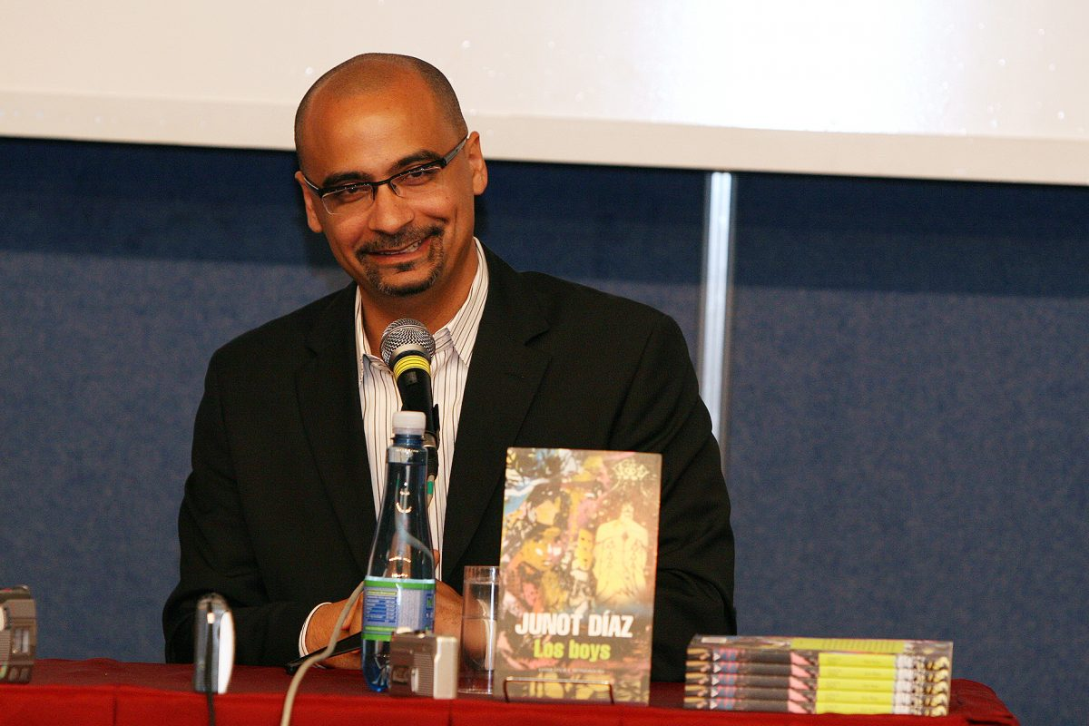 Junot Diaz at a literary event in Argentina 2009