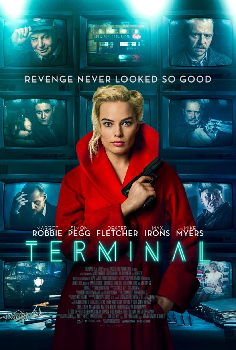 Movie Poster for Terminal starring Margot Robbie and Simon Pegg