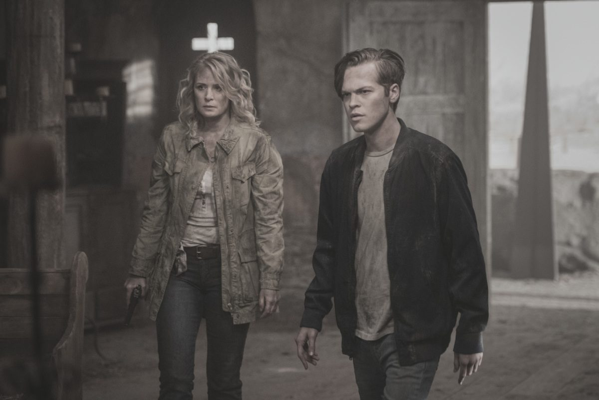 Samantha Smith as Mary Winchester and Alexander Calvert as Jack in The CW's Supernatural