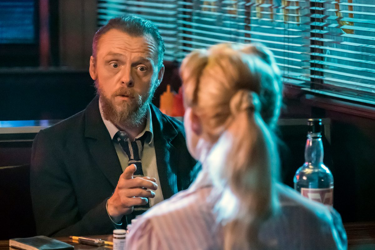 Simon Pegg as Bill in 'Terminal'