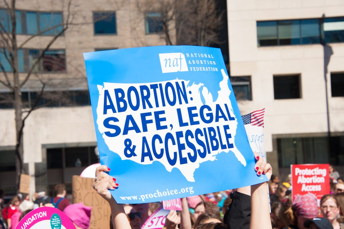 Abortion rights protest sign
