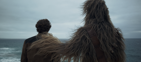 Chewie and Han Solo in 'Solo: A Star Wars Story'