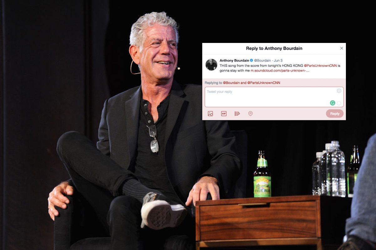 Replies to Anthony Bourdain's death on Twitter