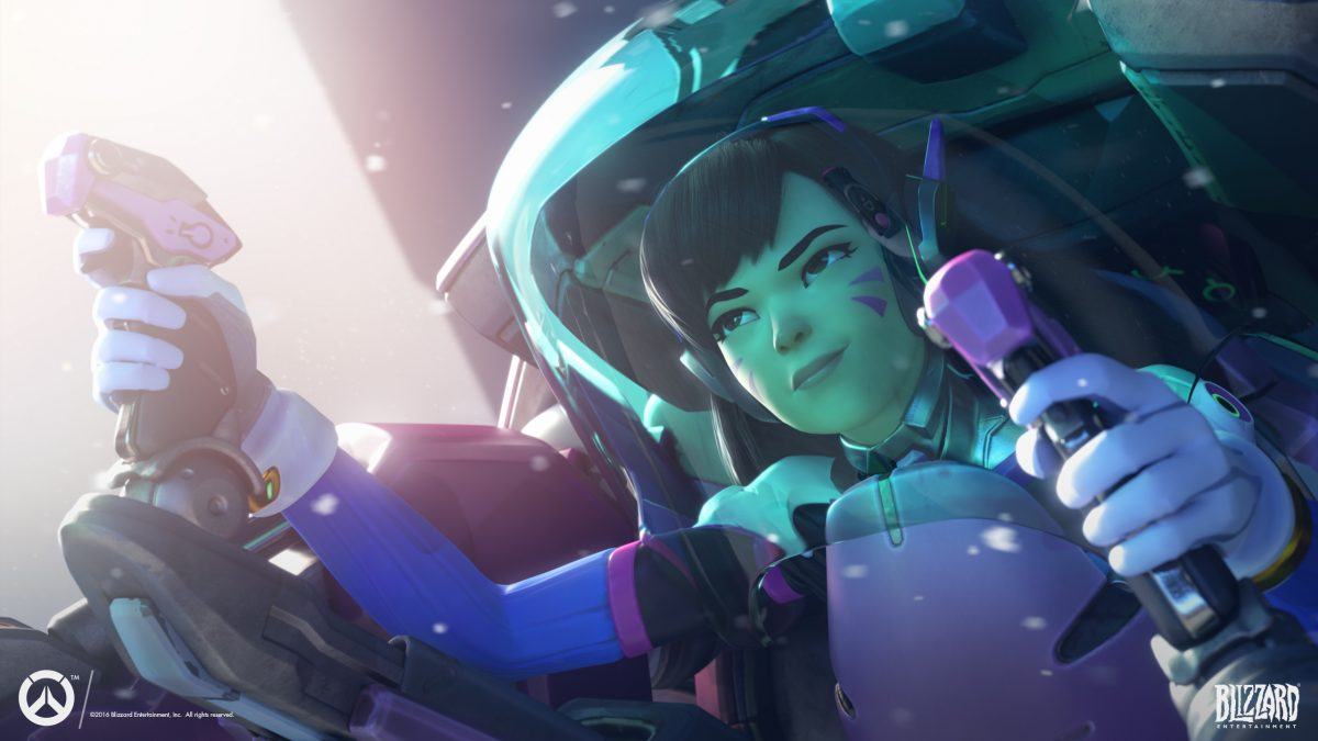 d.va wallpaper from Blizzard's Overwatch