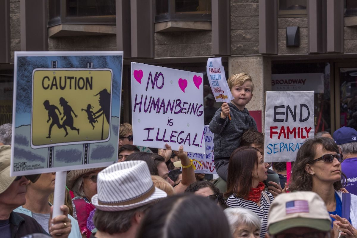 protest of family separation immigration policy