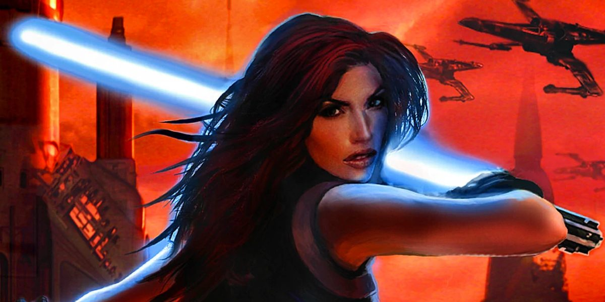 Mara Jade ignites her saber in Star Wars Legends canon