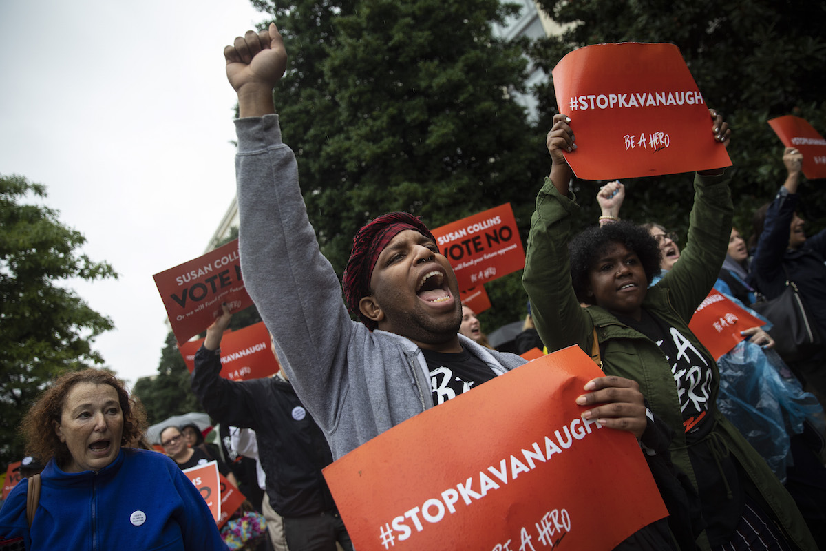kavanaugh protest walk out blasey ford