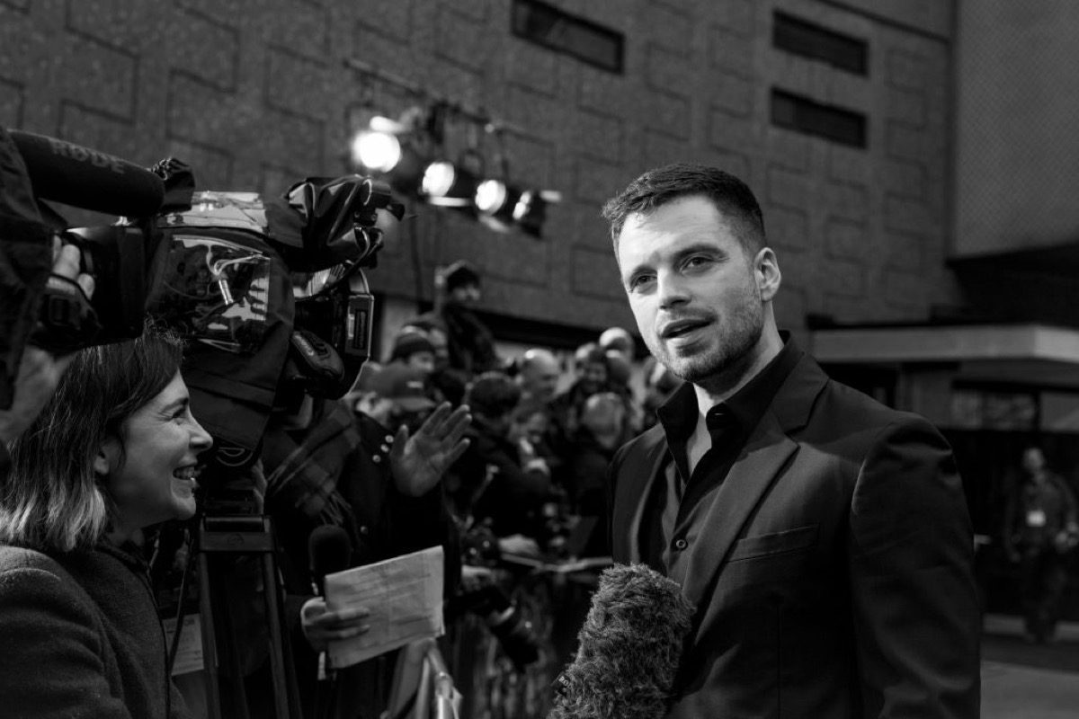 Sebastian Stan attends the UK Fan Event to celebrate the release of Marvel Studios' 'Avengers: Infinity War' at The London Television Centre on April 8, 2018 in London, England.