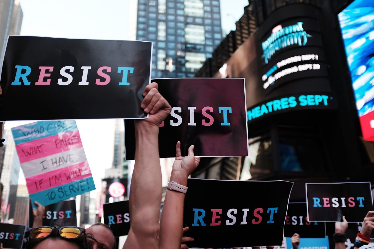trans equality protest signs
