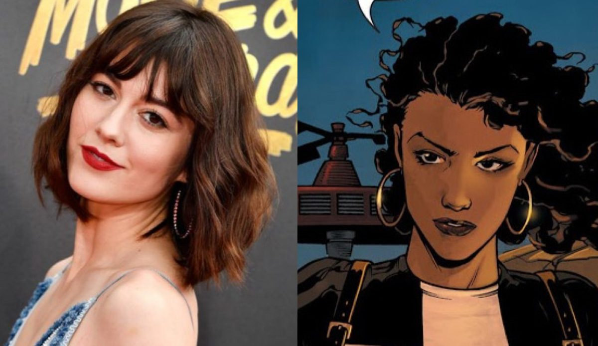 Mary Elizabeth Winstead and Huntress in DC Comics