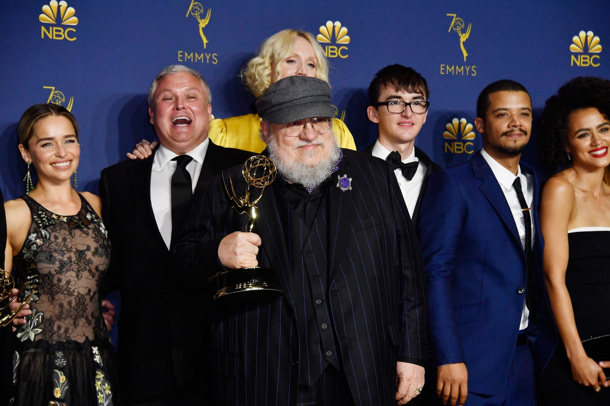George R.R. Martin poses in the press room during the 70th Emmy Awards at Microsoft Theater on September 17, 2018 in Los Angeles, California. (Credit: Frazer Harrison/Getty Images)
