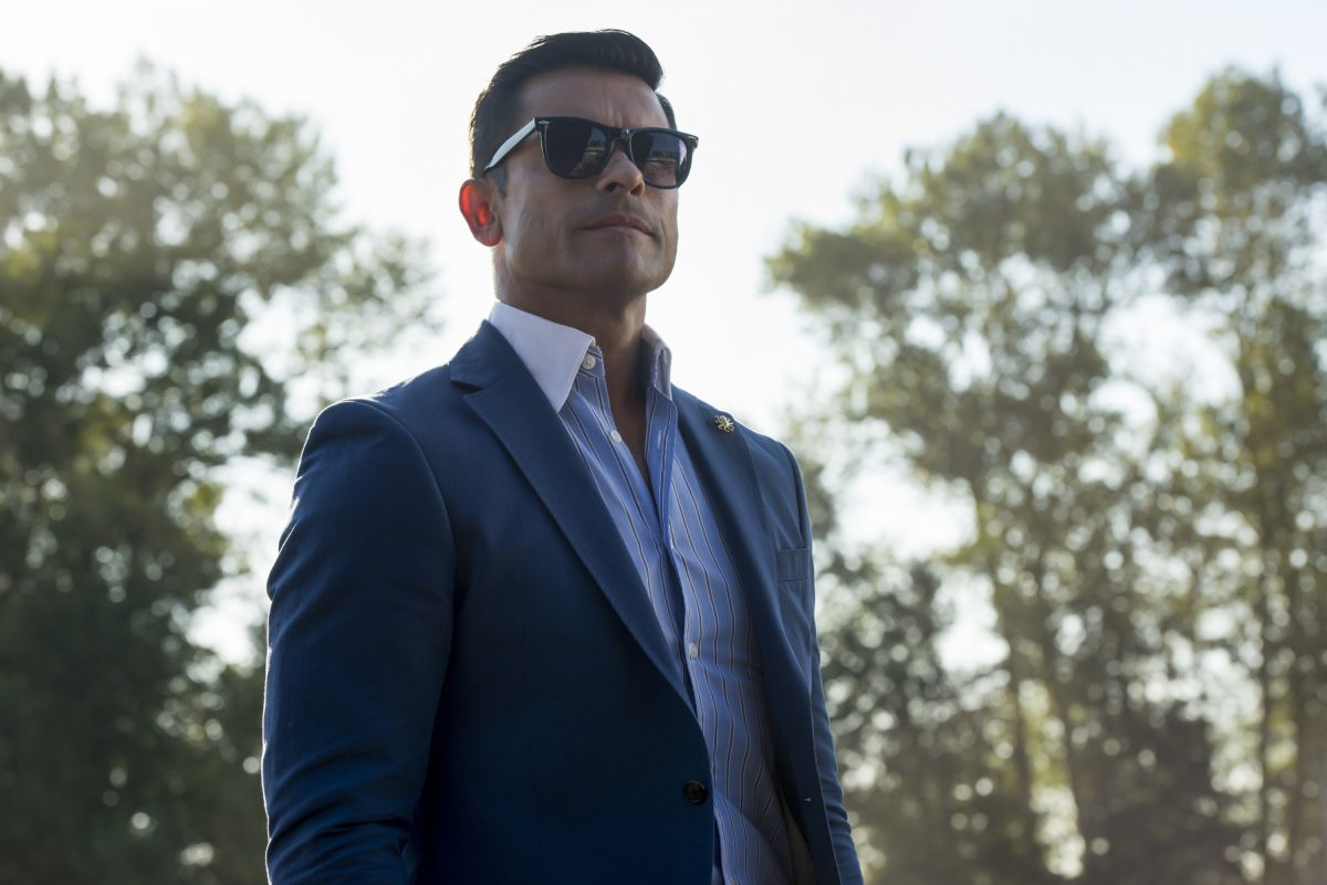 """Riverdale -- """"Chapter Thirty-Seven: Fortune and Men's Eyes"""" -- Image Number: RVD302b_0015.jpg -- Pictured: Mark Consuelos as Hiram -- Photo: Dean Buscher/The CW -- © 2018 The CW Network, LLC. All rights reserved."""