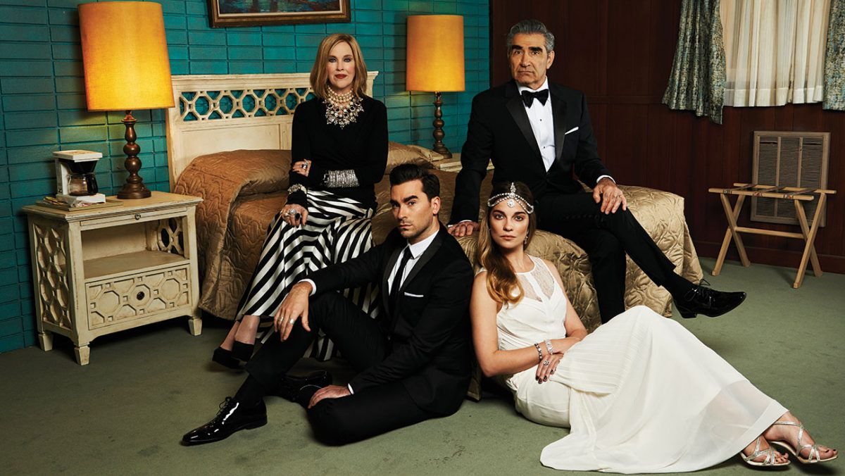 catherine o'hara, dan levy, eugene levy, annie murphy