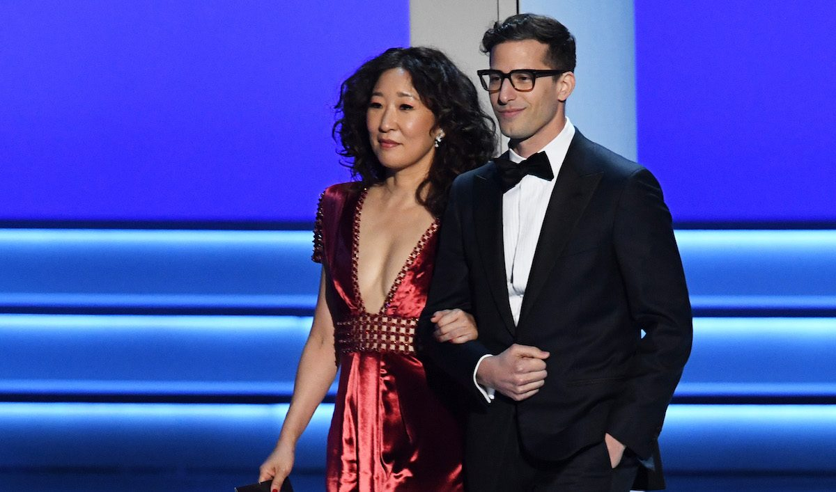 andy samberg sandra oh golden globes politics trump