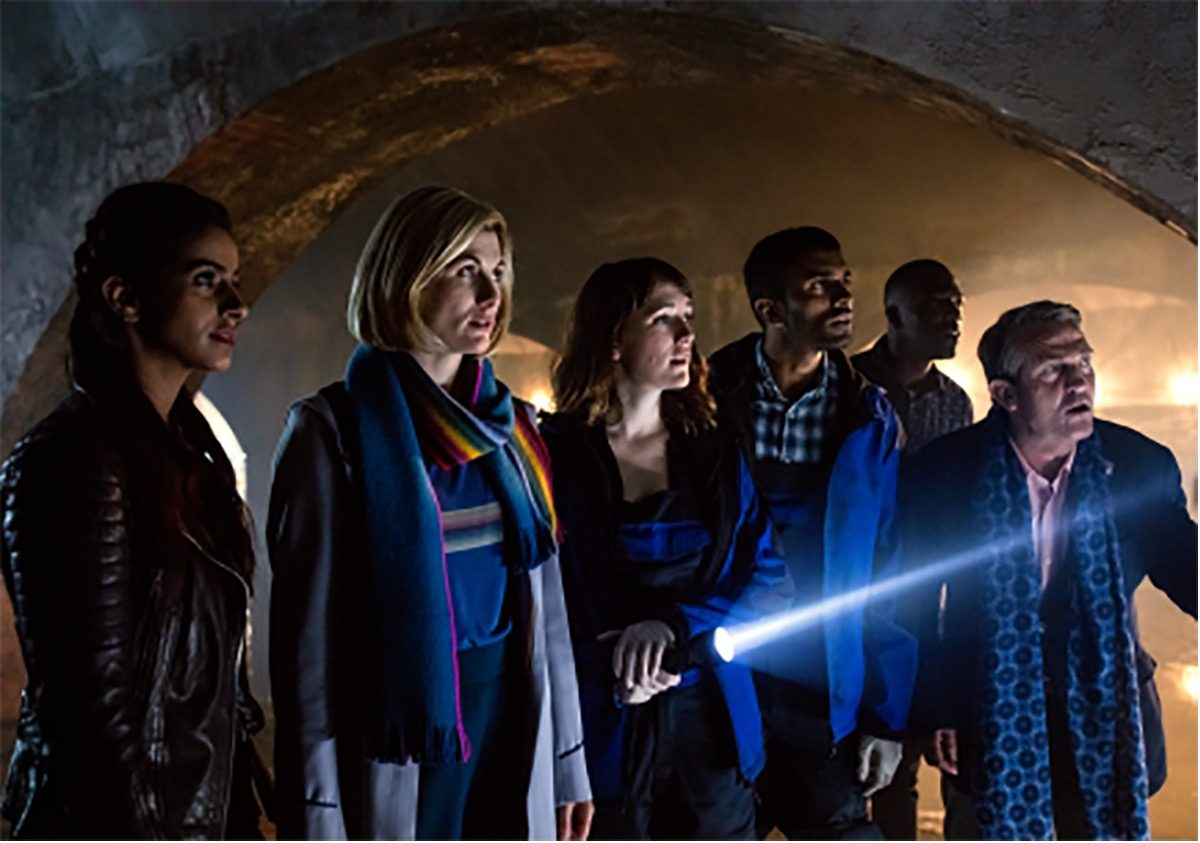 13th Doctor and companions in doctor who new year special resolution