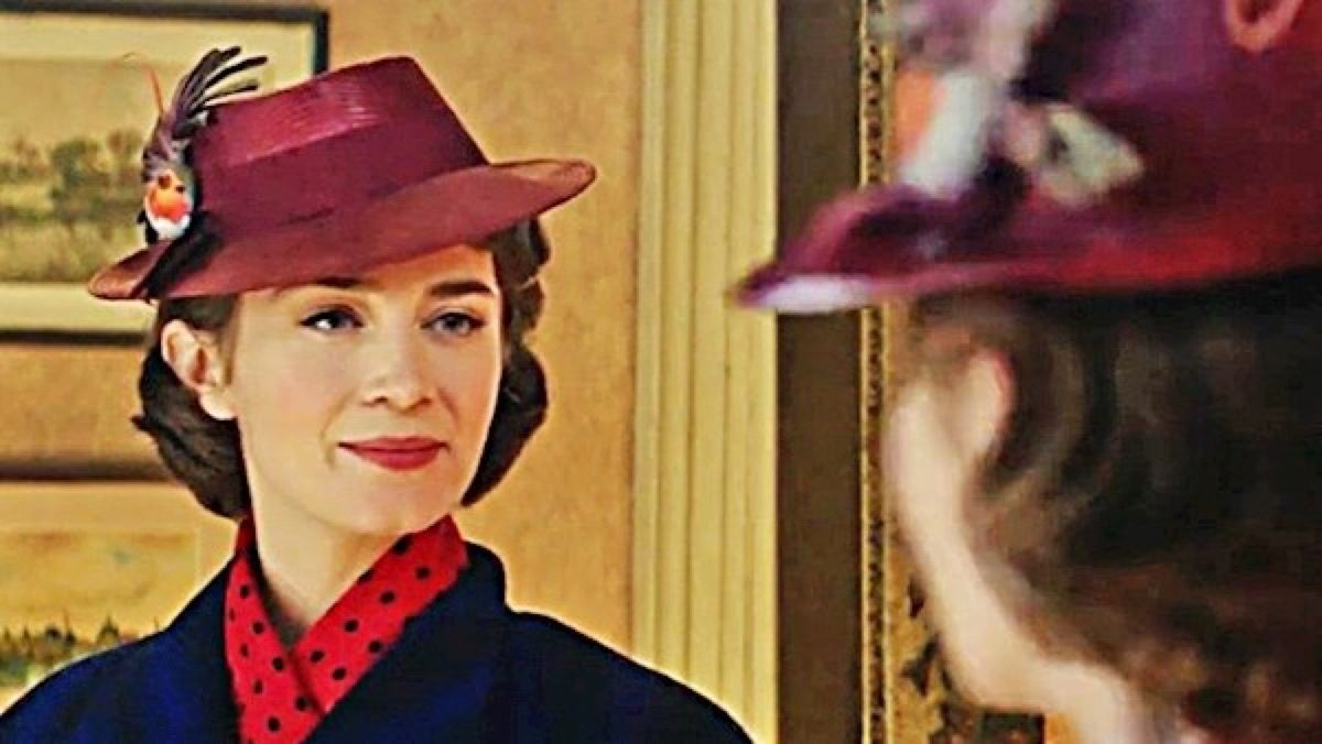 Emily Blunt in Disney's Mary Poppins Returns.