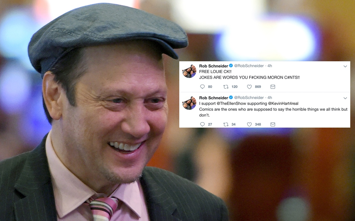 Rob Schneider defends Louis CK and Kevin Hart on twitter