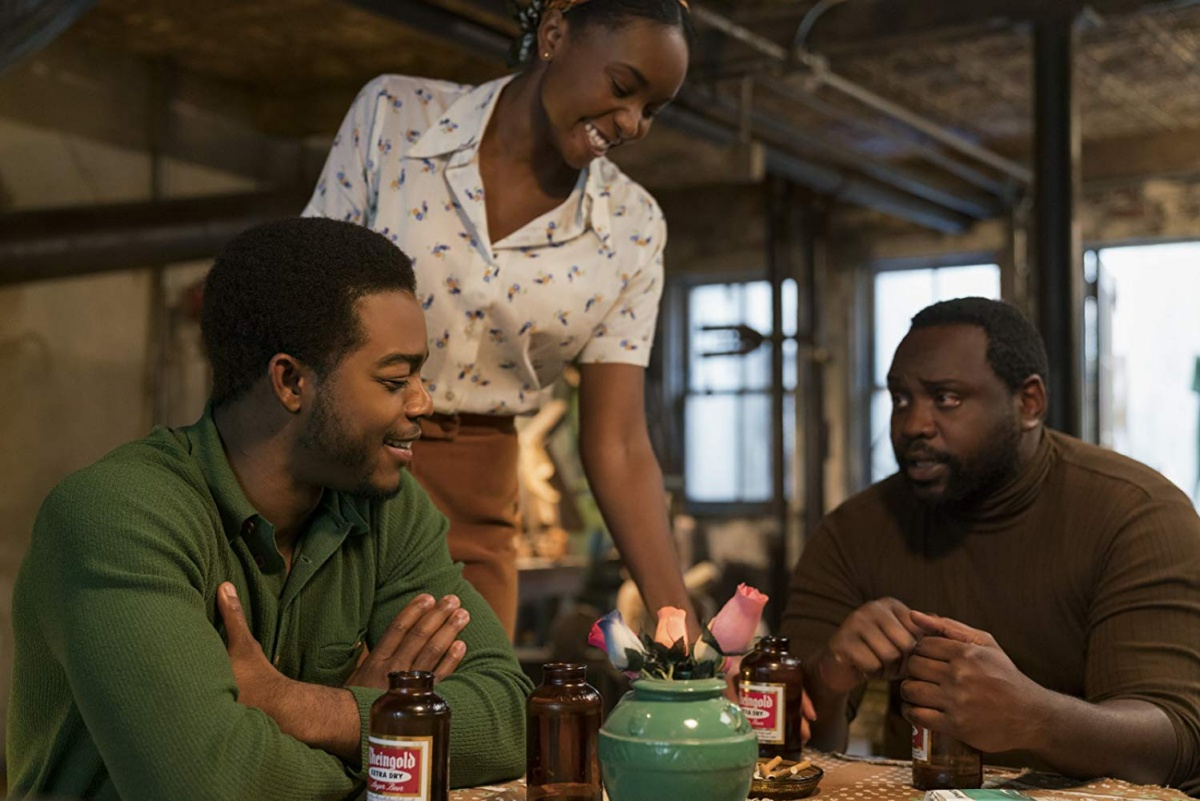 Brian Tyree Henry, Stephan James, and KiKi Layne in If Beale Street Could Talk (2018)