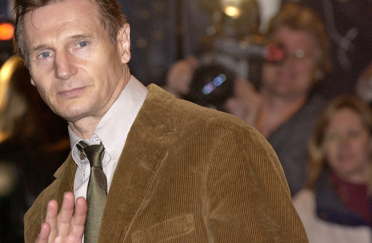NEW YORK - OCTOBER 29: Actor Liam Neeson arrives at the Christopher Reeve memorial service October 29, 2004 in New York City. The tribute was held at the Julliard School where Chris reeve attended kmore than 30 years ago. (Photo by Stephen Chernin)