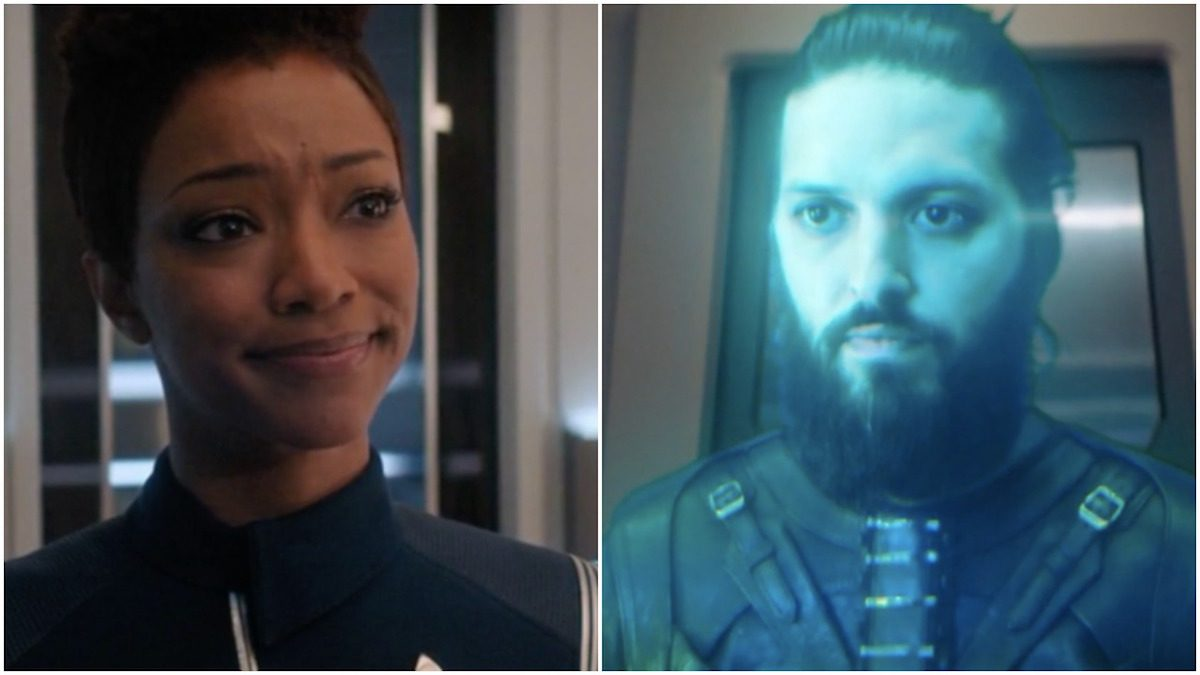 Michael and Tyler on Star Trek: Discovery